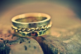 Textured, Hammered & Twist Gold Wedding Band
