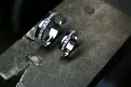 Diamond Channel Set Matching Wedding Rings