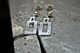 Vintage Diamond Dress Earrings