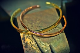 18ct Rose & Yellow Gold Torque Bangles