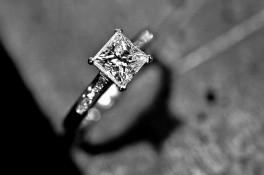 Princess Cut Diamond & Platinum