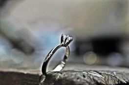 Palladium diamond solitaire