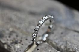 baguette diamond half eternity