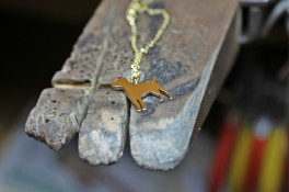 9ct Gold Jack Russell Dog Pendant