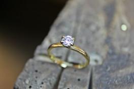 SERENE DIAMOND SOLITAIRE 18CT YELLOW GOLD