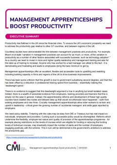 Management Apprenticeships Boost Productivity