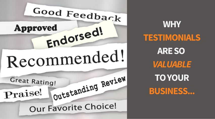 Testimonials - why are they so important and why don't we ask for them?