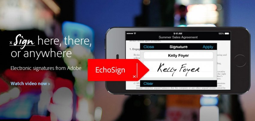 Echosign: Electronically signed, sealed and delivered