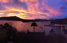 Sunrise over Portree this winter