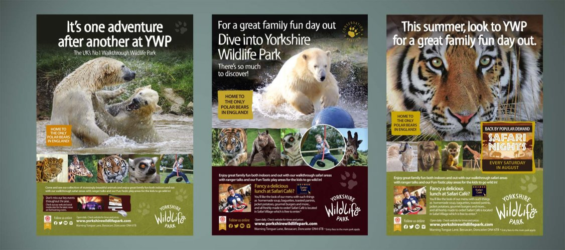 Advertising for Yorkshire Wildlife Park