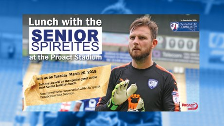 Senior Spireites Lunch with Tommy Lee