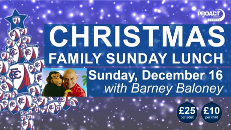 Christmas Family Sunday Lunch with Barney Baloney