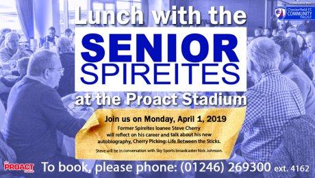 Senior Spireites Lunch with Steve Cherry