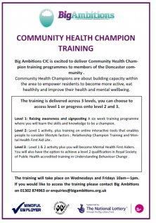 Big Ambitions Community Health Champion