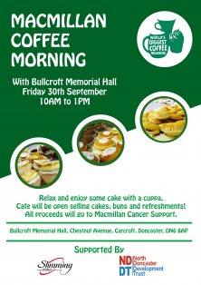 Macmillan Coffee Morning at Bullcroft Memorial Hall