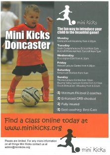 Mini Kicks is coming to Bullcroft Memorial Hall