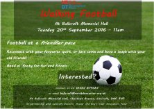 Walking Football - Relaunching this September!