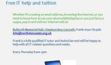 IT classes continue at Bullcroft Memorial Hall...