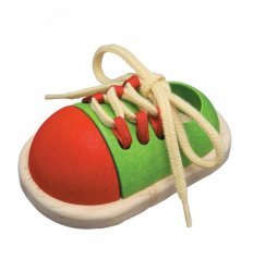 PlanToys Tie-Up Shoe -