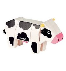Janod Funny Kit - Wooden Cow -