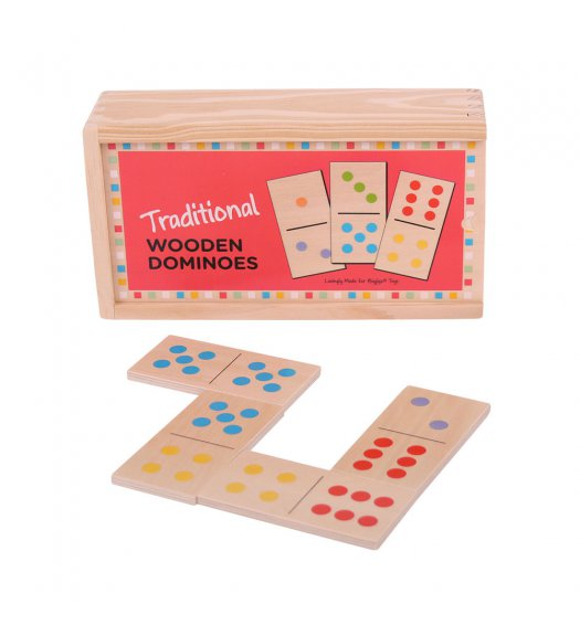 Bigjigs Traditional Colour Spot Dominoes - BJ784