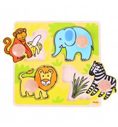 Bigjigs My First Matching Peg Puzzle - Safari -