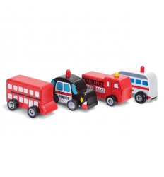 Tobar Wooden Wheels Toy Car (One Supplied) -
