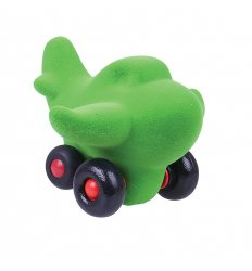 Rubbabu The Micro Charles Airplane (Dark Green) -