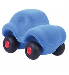 Rubbabu The Micro Rubbabu Car Blue -