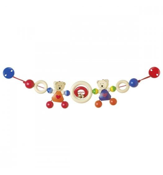 Heimess Pram Chain Heart Bears (With clips) - 732410