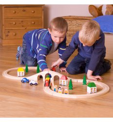 Bigjigs Figure of Eight Train Set - BJT012