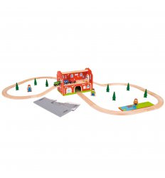 Bigjigs Railway Station Carry Set - BJT024