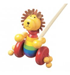 Orange Tree Toys Wooden Push Along - Lion -