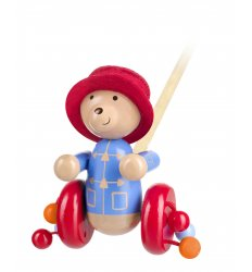 Orange Tree Toys Wooden Push Along - Paddington Bear -