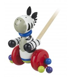 Orange Tree Toys Wooden Push Along - Zebra -