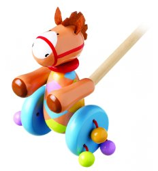 Orange Tree Toys Wooden Push Along - Pony -