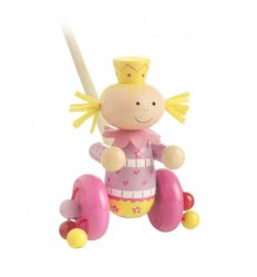 Orange Tree Toys Wooden Push Along - Mimi Fairy -