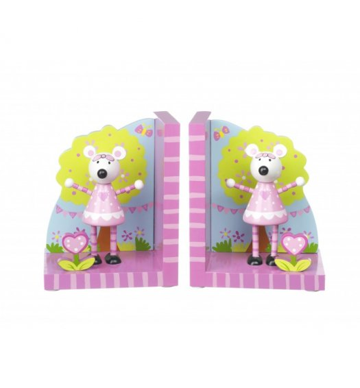 Orange Tree Toys Wooden Bookends - Pink Mouse - OTT10421