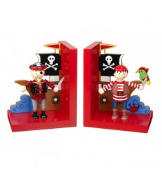 Orange Tree Toys Wooden Bookends  - Pirate -