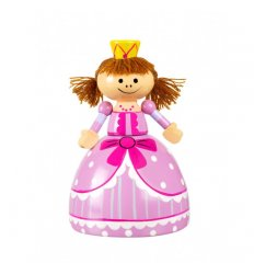 Orange Tree Toys Wooden Money Box - Princess -