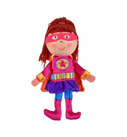 Fiesta Crafts Finger Puppet - Girl Hero - G-1052