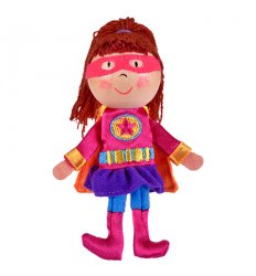 Fiesta Crafts Finger Puppet - Girl Hero - G-1052