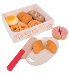 Bigjigs Cutting Food - Bread and Pastries Crate -