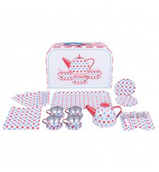 Bigjigs Spotted Tea Set in a  Case -