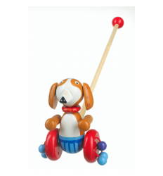 Orange Tree Toys Wooden Push Along - Sammy the Spaniel -