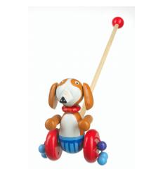Orange Tree Toys Wooden Push Along - Sammy the Spaniel -