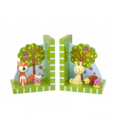 Orange Tree Toys Wooden Bookends - Woodland Friends -