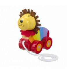 Orange Tree Toys Lion Pull Along -