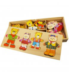 Bigjigs Bear family -