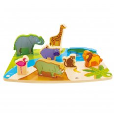 HAPE Wild Animal Puzzle & Play - E1455